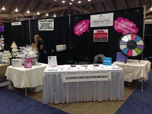 Lee Hatfield Team Booth at the Baltimore Wedding Experience