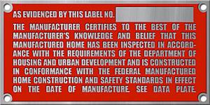 Manufacturer Tag